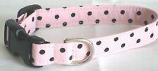 Black Dots/Pink (#169) - Cat Collars, Min Pinscher, Westie, Corgi, Husky