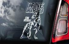 Cane Corso on Board - Car Window Sticker - Dog Sign Decal Italian Mastiff - V01