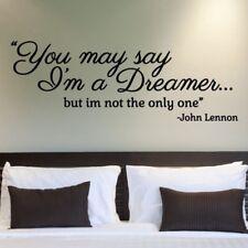 John Lennon you may say I'm a dreamer bedroom Wall Art Vinyl Decal Sticker V352