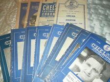 CHELSEA HOME PROGRAMMES 1948 - 50 - CHOOSE FROM LIST INC FAC LEAGUE FRIENDLYS