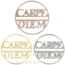 MI MILANO CARPE DIEM COIN/MONEDA/DISC FOR MIMILANO PENDANT HOLDER LOCKET CARRIER