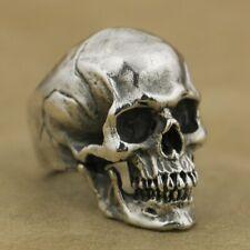 anneau en argent sterling 925 Bague BIKER Punk Bijoux Hommes Tête de mort TA50B