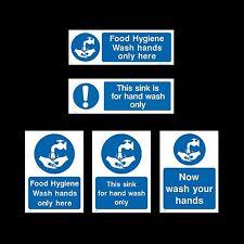 Ora lavare le mani / lavandino / igiene alimentare-Firmare, Adesivo-Tutte le Taglie e materiale