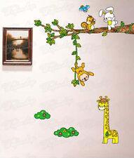 Wandaufkleber Wandtattoo Wandsticker Giraffe & Affe Kind Kinderzimmer WAG-027
