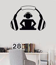 Vinyl Wall Decal DJ Headphones Music Musical Teen Room Stickers (518ig)