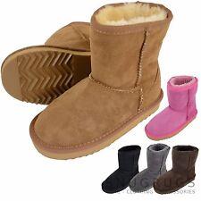 Infantil/ Infantil/ Niños/Niñas COMPLETOS Botas de piel de oveja / botines