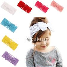 Kinder Schleifen Spitzen Haarband Mädchen Schleife Spitze Haarschmuck Stirnband