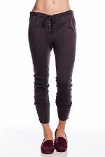 Inhabit 100% Cashmere Weekend Leggings DARK SLATE Gray Grey Buttons