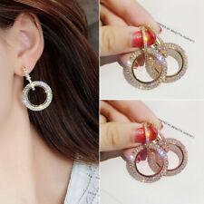 Fashion Jewely Luxury Round Diamond Earrings Women Silver Glitter Stud Earring