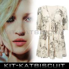 Kate Moss Antique Rose Floral Print Cream Dress