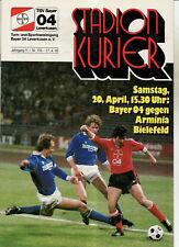 BL 84/85 Bayer 04 Leverkusen - Arminia Bielefeld