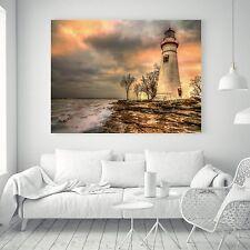 Lighthouse Landscape Vintage Art Silk Canvas Poster Fabric Painting Decor A90