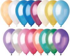 """Noir argent paillettes-Lot de 6 x 12 /""""Pearlised latex Ballons Fête D/'Anniversaire"""