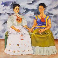 "FRIDA KAHLO Surrealism Art Painting Poster or Premium Canvas Print ""Two Fridas"""