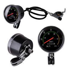 Tachometer Analog Fahrrad Kilometerzähler km/h rpm Tacho Computer mit Kabel Neu