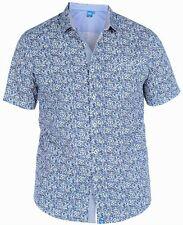 NUOVO da uomo taglia grande trendy stampa floreale camicia - 3XL 4XL 5XL 6XL -