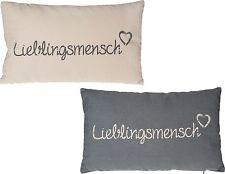 Kissen Lieblingsmensch Herz Liebe Spruch Geschenk Freundschaft Partner Freundin