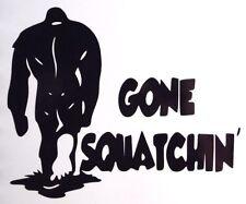 Gone Squatchin' Bigfoot Sasquatch Car Truck Window Vinyl Sticker Decal 12 Colors