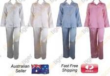 Full Length Ladies Satin Pyjamas Silk Winter PJ's Petite & Plus Size 4 to 26