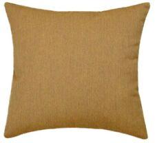 Sunbrella Canvas Teak Indoor/Outdoor Solid Pillow