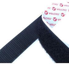 VELCRO® brand PS14 50mm Self Adhesive Sticky Back Tape Strip Hook/Loop Black 5m