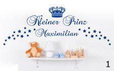 Kleiner Prinz Name Kinderzimmer Stern Deko Junge Geburt Wandaufkleber WandTattoo