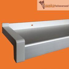 ALUMINIUM FENSTERBANK silber EV 1 inkl. Kunststoff Gleitabschluss
