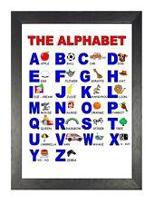 ABC LETTERS ALPHABET COLOURFUL KIDS CHILDREN PHOTO ART PRINT POSTER BMP1558A