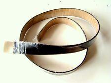 Nuovo Cintura in pelle Forze armate nero Lunghezza 90 - 150 cm