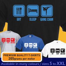 EAT SLEEP WING CHUN Ving Tsun Martial Arts funny t-shirt mens womens boys gift