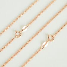 Silberkette rund echt Sterling Silber 925 rosegold 40 - 70 cm Halskette Pullover