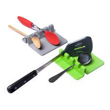 Heat Resistant Silicone Spoon Rest Kitchen Utensil Spatula Holder Organizer New