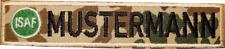 Namensstreifen Namensband Bundeswehr, mit Logo und mit Klett