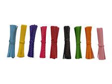 POLKA DOT Twist Ties -  10cm Purple Red Pink Blue Yellow Green Black Orange