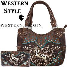 Western Horse Handbag Concealed Carry Purse Women Country Shoulder Bag Wallet
