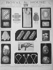 PUBLICITÉ 1898 ROYAL HOUSE TROUSSEAUX LUXE PORTE-CIGARETTE POUR HOMMES ET JEUNES