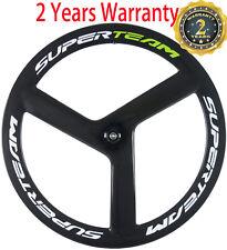 Superteam 56mm Clincher/Tubular Tri Spoke Front Wheel 700C Track Carbon Wheel