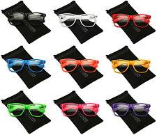 Men Women Non Prescription Clear Lens Face UV Glasses Retro Vintage Nerd Hipster