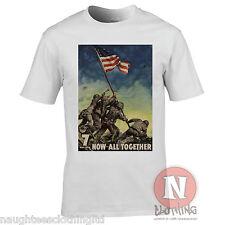 Guerra Mundial 2 US propaganda Iwo Jima Bandera Camiseta historia militar de la Segunda Guerra Mundial Pacífico