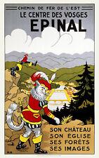 Affiche chemin de fer Est - Epinal