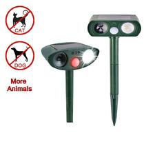 Outdoor Solar Ultrasonic Pest Animal Cat Crow Repeller Repellent Scarer Sensor