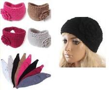 Para Mujer Flor Crochet Tejida Vincha Oreja Calentador Cabello Head Band Headwrap