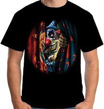 Velocitee Da Uomo T Shirt Spaventoso Male Circo Clown Horror JOKER Biker A21682