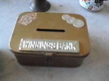 Unique Vintage Aluminum Winnings Bank Box JAPAN