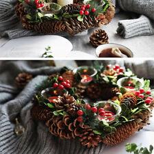 10Pcs Large Decorative Pinecone Pine Cones Garland Wreath Holiday Decors