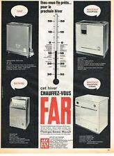 PUBLICITE ADVERTISING  1963     FAR  cuisinière calorifère chauffage