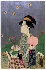 Japanese POSTER.Stylish Graphics. Geisha Fashion. Asian Room Decor. 126i