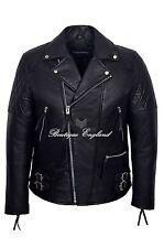 'RECKLESS' Men's Black Biker Style Motorcycle Real Soft Lambskin Leather Jacket