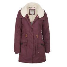 Bench Relator Coat Ladies Parka Jacket wine red - Warm Winter Jacket With Fur