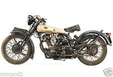 Vintage Motorcycle poster/print 1932 Brough Superior Black Alpine 680 Full View